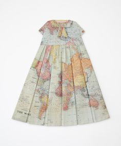 Dresses from folded maps