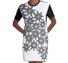 Graphic T-Shirt Dress Bunch Of Flowers, Shirt Dress, T Shirt, Mandala, Mens Tops, Dresses, Style, Fashion, Supreme T Shirt
