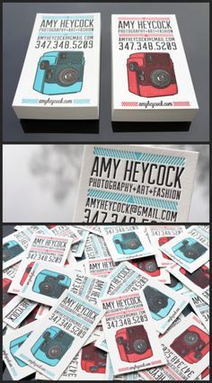 Letterpress business cards.  [Print & Grain]