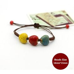 >>>Pandora Jewelry OFF! >>>Visit>> Weaving Bohemia Ceramic Bracelet Charm Jewelry From Touchy Style Outfit Accessories Charm Bracelets For Girls, Bracelets With Meaning, Cheap Bracelets, Cute Bracelets, Handmade Bracelets, Fashion Bracelets, Beaded Bracelets, Handmade Jewelry, Simple Jewelry
