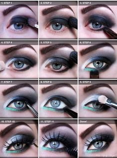 12 easy steps smokey eye makeup blue eyes