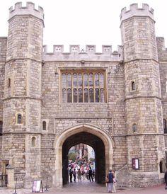 The Henry VIII gateway at Windsor Castle.