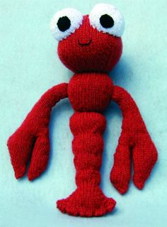 Cute free knitting patterns for beginners are hard to come by. Luckily for you, under the sea everything's better, and the adorable Lobster Free Knitting Pattern is all yours at no cost. Learn to knit with this precious free knitting pattern. Amigurumi Patterns, Knitting Patterns Free, Free Knitting, Knitting Toys, Doll Patterns, Knitting Projects, Crochet Projects, Sewing Projects, Sock Animals