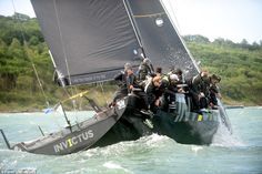 Harry was one of 16,000 competitors taking part in the Round the Island race on the coast ...