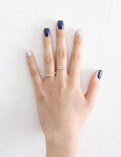 Glittery n blue