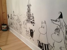 The Moomin wall in the girl's room is coming along. By Alex Jones Jones Milway…