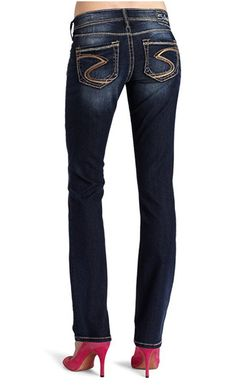 SILVER JEANS SALE Buckle Thick Stitching Mid Rise Gordie Loose ...