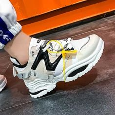 Special Price of 2019 Women Casual Shoes Leather Dad Platform Chunky Sneakers comforteble Flat Thick Sole Tenis Wedge White Basket Walking P. Sneakers Shoes, Cute Sneakers, Chunky Sneakers, Platform Sneakers, Casual Sneakers, Sneakers Fashion, Chunky Shoes, Sneakers Women, Reebok