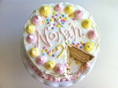 Vanilla Cake with Buttercream Frosting - Eat Boutique Birthday Week