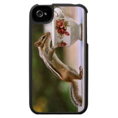 Picture of Chipmunk with China Teacup iPhone 4 Cover