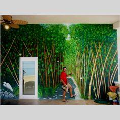 Mural acrílico sobre pared  Condominios Villa Costa del Sol Cozumel