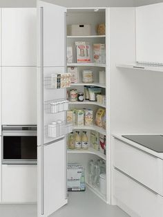 Ideas Kitchen Corner Pantry Layout Interior Design For 2019 Kitchen Corner Cupboard, Corner Pantry, Kitchen Pantry Design, Kitchen Pantry Cabinets, Kitchen Layout, Storage Cabinets, Home Decor Kitchen, Kitchen Storage, Kitchen Ideas