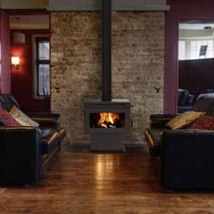 Masport Heating: FREESTANDING FIRES - This modern day versatile fire can fit into any room easily, and match any style. it's perfect for medium to large areas and has a flat glass door that opens past 90 degrees to make refurling easier. Fireplace Hearth, Stove Fireplace, Fireplace Inserts, Fireplace Modern, Fireplace Ideas, Fireplaces, Wood Burning Logs, Wood Burning Insert, Vermont