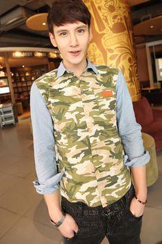 Camo Print Shirt.  Get it online. http://theurbanloft.wix.com/theurbanloft#!shop-online/czqj #prints #army #camo #shoponline #menstyle #shirt #outfitsforschool #ngeeannpoly #nus #ntu #singapore