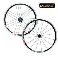 "238.68$  Buy now - http://ali1gc.worldwells.pw/go.php?t=32621164474 - ""Litepro Ultralight 20 inch 406 Folding Bike Wheels 16 21 Holes BMX 20"""" Bicycle Wheelset for SP8"""