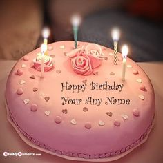 Write Your Name On Candles Birthday Wish Cake Name Pictures - My Name Pix Happy Birthday Cake Writing, Birthday Cake Write Name, Birthday Wishes With Name, Beautiful Birthday Wishes, Happy Birthday Wishes Photos, Happy Birthday Name, Husband Birthday, Birthday Quotes, Yellow Birthday Cakes