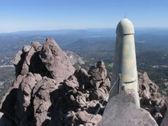Summit of Mt. Lassen. I climbed it years ago, but its hard (and dangerous) to climb up to the true summit.