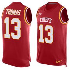 1bc74c538 Men's Nike Kansas City Chiefs #13 De'Anthony Thomas Limited Red Player Name  &