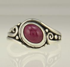 Sterling Silver mm Oval Ruby Cabochon Ring -Handmade One of a Kind Artisan Jewelry Made in the USA with Free Domestic Shipping! Denim and Diamonds Jewelry Silver Pendant Necklace, Silver Earrings, Silver Jewelry, Denim And Diamonds, Schmuck Design, Handmade Sterling Silver, Etsy Jewelry, Unique Rings, Handmade Bracelets