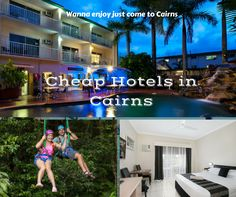 Cheap Hotels in Cairns -  Cairns City Sheridan provides best accommodation at reasonable price, where you can enjoy wide range of rooms that are available for family, couple,individuals. Each room has balcony with large space with air conditioner.