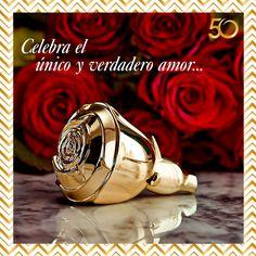 ¡Volare Gold combina cálidas notas de Rosa Grand Amour, símbolo del amor eterno, con una dulce base de caramelo, para que irradies tu lado más sensual y romántico!