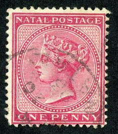 """1870 Scott 38 red """"Queen Victoria"""" Overprinted in Black Quick History Natal was a British crown colony in south-eastern Africa bet. Cape Colony, Crown Colony, Colonial, Union Of South Africa, Rare Stamps, Kwazulu Natal, Red Queen, West Africa, New Zealand"""
