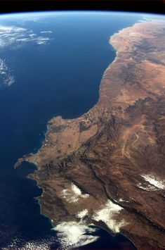 """Chris Hadfield 13 May """"The southwest corner of Africa, from space."""""""