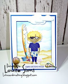 Tonic Studios Dressable Dies - Essentials and Boys Outfits. Louise Sims Papercrafter: Using Tonic Studios Dressables dies to create a ho. Tonic Cards, Studio Cards, Surfer Dude, Handmade Gifts, Handmade Cards, Mini Albums, Boy Outfits, Sims, Studios