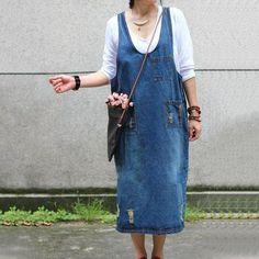 Denim Strap Casual Loose Dress