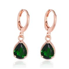 Wholesale Top Quality Romantic Gold Plated Fashion Earrings Jewelry Women's Cubic Zirconia Hoop Earrings Multicolor