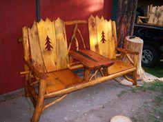 TWO SEAT ADIRONDACK BENCH. - WARNER ADIRONDACK DESIGNS