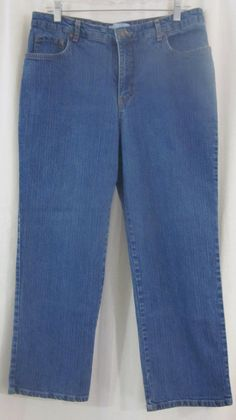 Kim Rogers Jeans Size 14P Avg. Relaxed Fit 33x27 1/2 Free Shipping #KimRogers #Relaxed