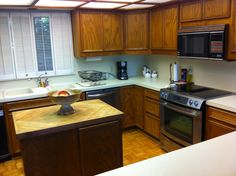 Kitchen, showing new Jennaire oven and cooktop.