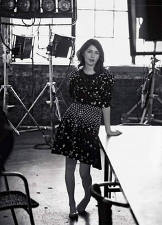 Sofia Coppola in Vogue Italia December 1992 shot by Steven Meisel