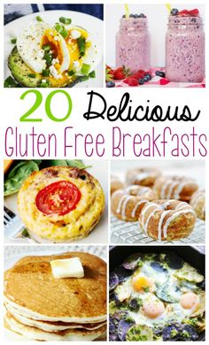 Gluten Free Breakfast Recipes - Looking for delicious gluten free breakfast recipes? Here are 20 recipes to start your day off right! via @wendypolisi