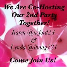 """Best PFFs Co-Hosting Together Again!!  There is nothing like Co-Hosting with your Very Best PFF; Never mind getting to do it Twice! Karen and I will be looking for Compliant Closets only when the theme is announced.  Please tag your favorite closet so we can take a look!  """"Like"""" this listing to be updated on date and theme.  Bags"""