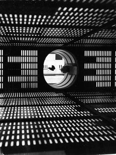 Inside the set of the HAL 9000 supercomputer.
