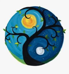 Yin yang tree blank greeting card envelope diy ideas of painted rocks with inspirational picture and words Yen Yang, Ying Y Yang, Yin Yang Art, Yin And Yang, Ying Yang Symbol, Pebble Painting, Dot Painting, Pebble Art, Stone Painting