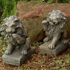 Lion Sculptures Beautiful Outdoor Items For Your Garden Or Patio! #outdoors #outdoordecor #design #exteriors #exteriorhomescapes #exteriorhomescapes.com