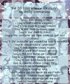 I got this picture from another pinned and wanted to do the Disney Challenge as well!!! I challenge all of you to do the same! :D