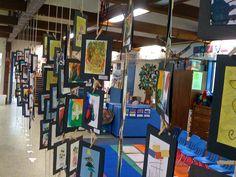 .hanging childrens art