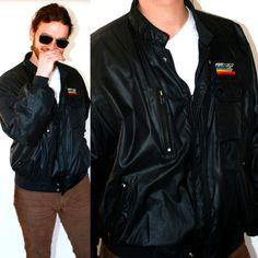 VTG 80s Mens Black Bomber Jacket Member's Only by BluegrassVoodoo, $18.00