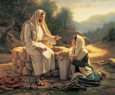 Living Water, Jesus and the Samaritan Woman, by Simon Dewey Images Du Christ, Pictures Of Jesus Christ, Arte Lds, Simon Dewey, Place Saint Pierre, Image Jesus, Lds Art, Jesus Christus, Christian Art