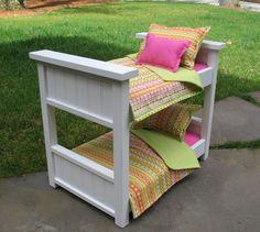 American Girl Doll Bunk Bed - Abbie american girl bunk bed, american girl doll bunk beds