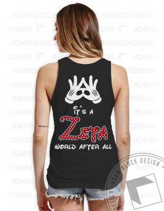 Zeta Tau Alpha - Zeta World After All Tank by ABD BlockBuy! Just $17 - $21 each plus shipping | Adam Block Design | Custom Greek Apparel & Sorority Clothes | www.adamblockdesign.com