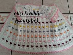 BAYRAM ŞEKERİ MODELİ YELEK YAPILIŞI/BOTW MODEL VEST PREPARATION - YouTube Baby Sweater Knitting Pattern, Baby Knitting Patterns, Knitting Designs, Hand Knitting, Knit Baby Dress, Knitted Baby Clothes, Baby Cardigan, Making A Model, Needlepoint Designs
