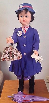 VINTAGE 1966 HORSMAN 36 in MARY POPPINS PLAYPAL SIZE DOLL...this is like mine!
