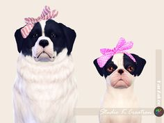 [PETS] head bow for dog(S4CC)34 colors /New mesh by me / find at hat / need sims 4 pets expansion pack DOWNLOAD
