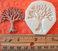 TREE of life mold NON FLEXIBLE hard wiccan spooky bare tree polymer clay mold on Etsy, $3.25