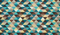 Tela rombos turquesa   Material: Algodon   Cada triangulo mide: 7,5 cms. Ancho: 13,5 cms. Es tela de doble ancho. Se vende por metros y el tejido es loneta.... Eur:24 / $31.92
